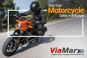 Motorcycle Shipping by Viamar is Done in a Safe Way